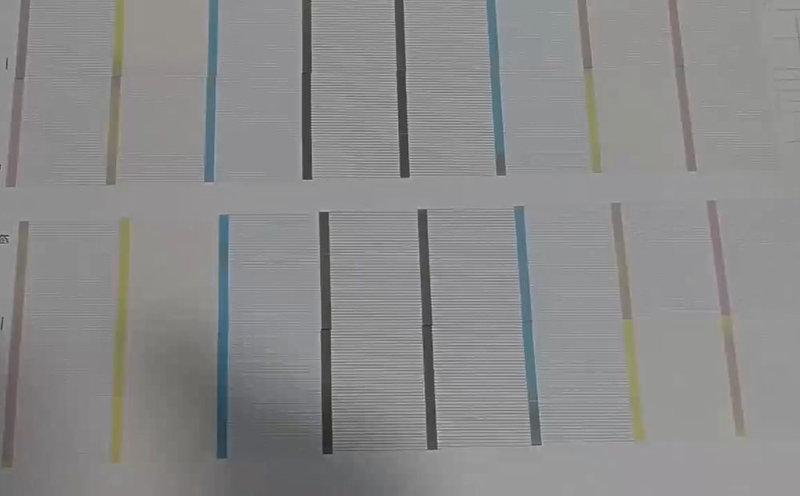 白墨打印機測試條