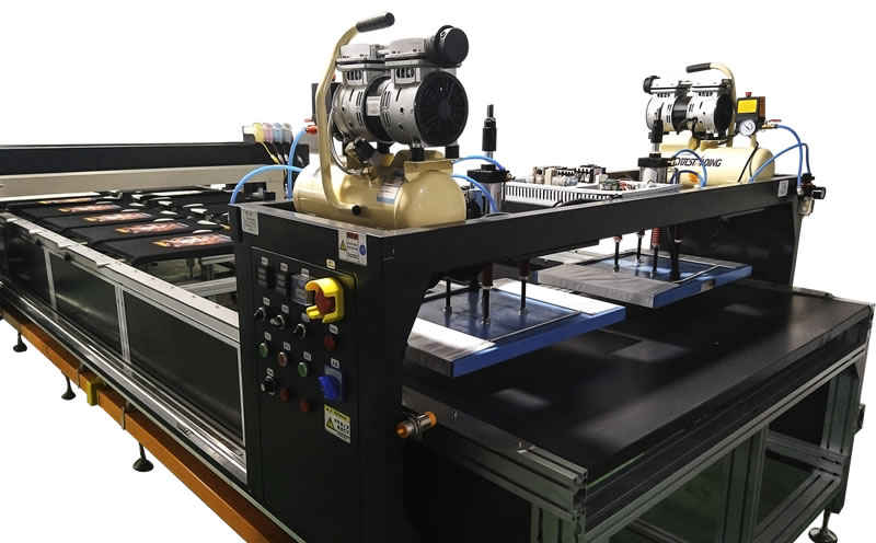 全自动压烫拔印机