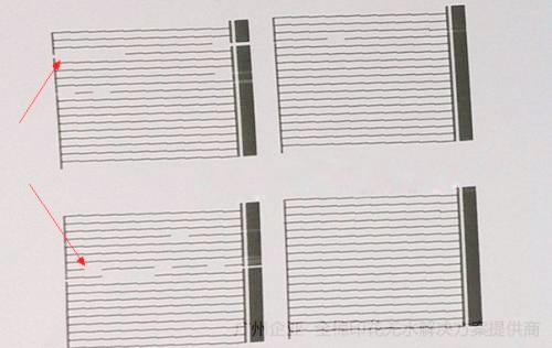 平板打印机喷头断墨测试条