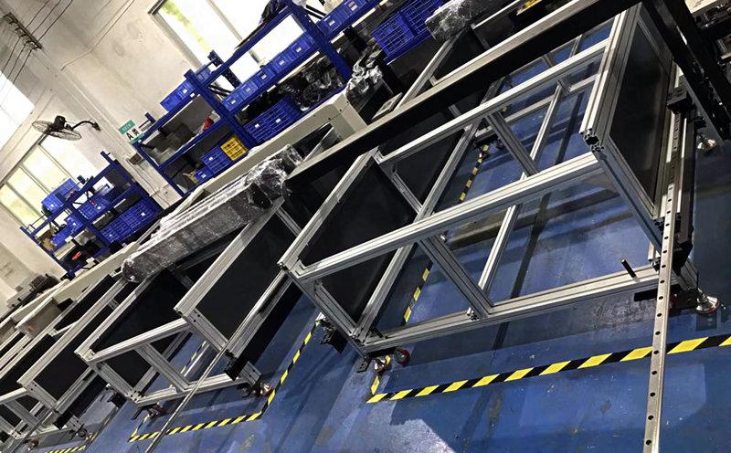 平板打印机生产车间